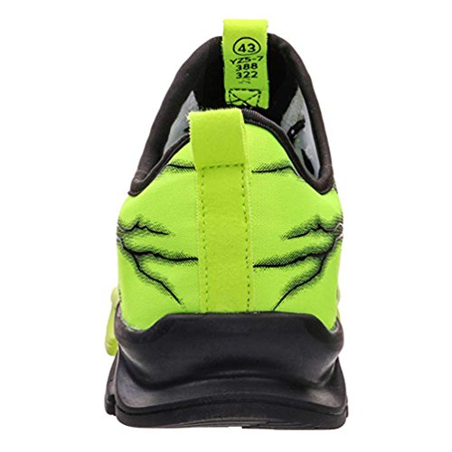 Lacets 3 Homme Chaussures Route Baskets De Antidérapant Mode Sneakers Sport vert Chemin HwwvqnA86