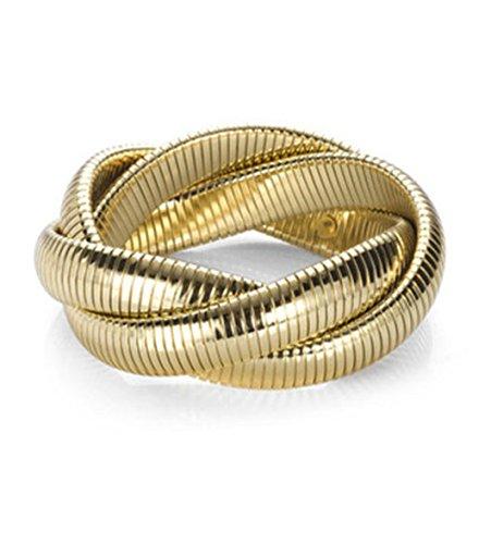 Wrap Bracelet Stretch Triple Twist Fashion Jewelry Adjustable Size Fits Most