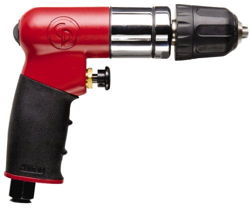 7300RQC 1/4-Inch Reversible Mini Air Drill with Keyless Chuck (Chicago Pneumatic Compact Drill)