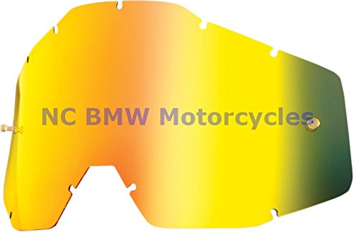 100% Racecraft Adult Replacement Lens MotoX Motorcycle Eyewear Accessories - Gold Mirror/Smoke Anti-Fog - One Size
