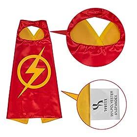- 41xARyoa61L - YOHEER Dress Up Costume Set of Superhero Satin Capes with Felt Masks for Kids
