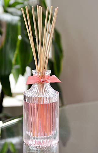 (Manu Home Pink Grapefruit Reed Diffuser Set | Clean, Refreshing, Energizing Aroma of Grapefruit with a hint of Natural Orange | Best Essential Oils Used | Made in)
