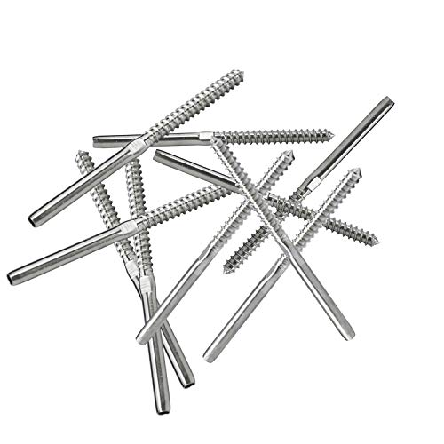Dasmarine 10pack Swage Screw Stud Threaded End Fitting Terminal For