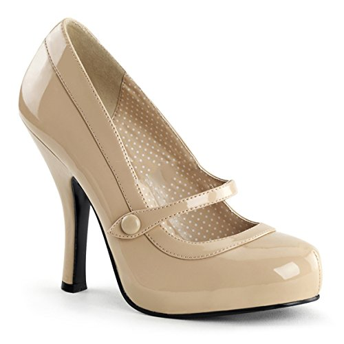 Couture Beige Col Tacco Pin Donna Scarpe Up Zw6fwYq5