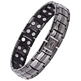 Product review for Double Magnets Titanium Magnetic Therapy Bracelet Pain Relief for Arthritis and Carpal Tunnel (Gunmetal Gray)