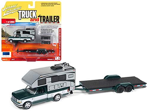 1993 Toy - Johnny Lightning Truck Trailer 1:64 1993 Ford F-150 W\ Camper and Open CarVERB