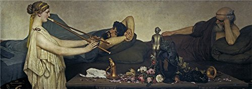 High Quality Polyster Canvas ,the Vivid Art Decorative Prints On Canvas Of Oil Painting 'Alma Tadema Sir Lawrence Pompeian Scene Or The Siesta 1868 ', 10 X 28 Inch / 25 X 72 Cm Is Best For Dining Room Artwork And Home Decor And Gifts - State Fair Bingo Shutter Cards