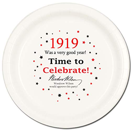 (1919 Birthday Dinner Plate (8 Count) by Partypro )