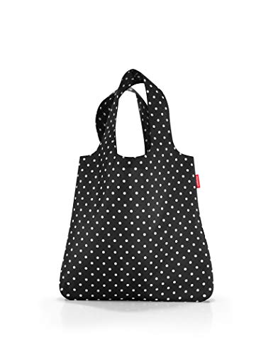 Reusable Shopper Tote - reisenthel Mini Maxi Shopper, Foldable Reusable Shopping Tote with Elastic Band, Mixed Dots