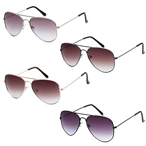 WHOLESALE BULK LOT PROMOTIONAL UNISEX CLASSIC PILOT AVIATOR SUNGLASSES - 4 - Novelty Wholesale Sunglasses