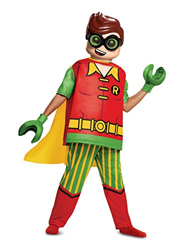 Disguise Robin Deluxe Child Costume, Red, Size/(4-6) -