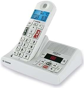 Sagem Dect D23XV - Teléfono inalámbrico con contestador automático [Importado de Alemania]