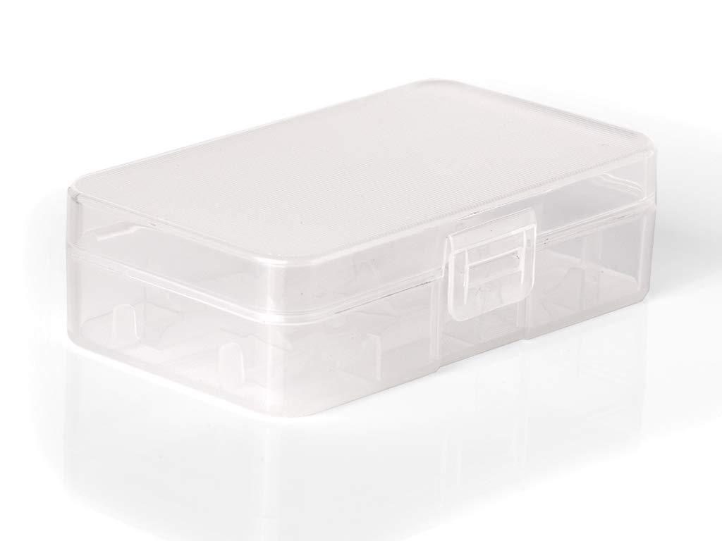 robuste und Rutschfeste Ausf/ührung Keeppower Aufbewahrungsbox D4 f/ür 20700//21700