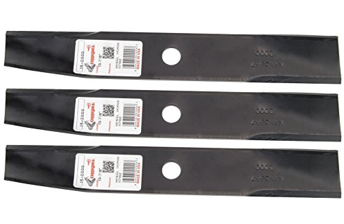 "(3 Rotary® Lawn Mower Blades Fit Toro® Wheel Horse 106077 117192 106636 50-1535 42"" Side Discharge 36"" Rear Discharge)"