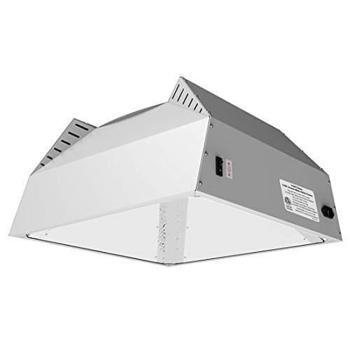 VIVOSUN 315W Ceramic Metal Halide CMH Grow Light Fixture with Italian Vega Aluminum Hood Designed for Even Coverage, Built-in 120/240V Ballast and Upgraded Cooling, ETL Listed