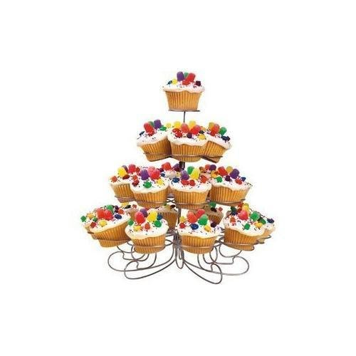 Tier 7 Watt Light (Luzy's Light-weight Tiered Metal Dessert and Cupcake Stand (23-Cup 4-Tier))