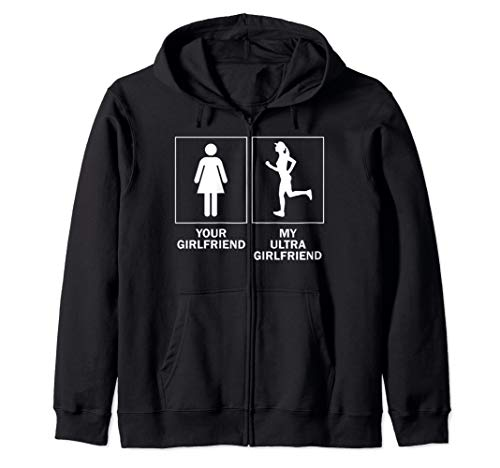 Ultra Marathon Gift For Boyfriend Ultra Running Girlfriend Zip Hoodie