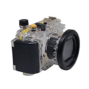 Mcoplus 40M/130ft Underwater Diving Waterproof Housing Case for Canon PowerShot S100 WP-DC43