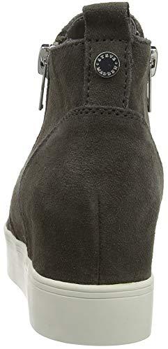 Wedgie Steve Suede para Gris Mujer 615 Altas Grey Madden Sneaker Zapatillas 57w6rqp71