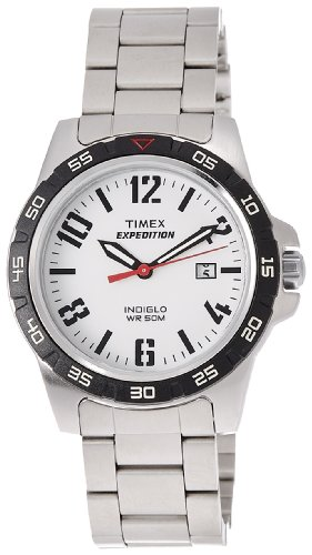 Expedition WR 50M Quartz Indiglo Stainless Steel Sport Men's Watch - Timex T49924