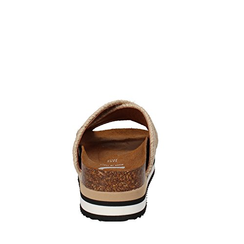 5 PRO JECT - Sandalias de vestir de tela para mujer Beige/Oro