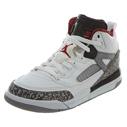 (Jordan Spizike White/Varsity Red-Cement Grey (Little Kid) (2.5y))