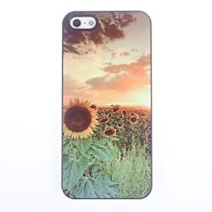 JJE Beautiful Sunflower Design Aluminium Hard Case for iPhone 5/5S