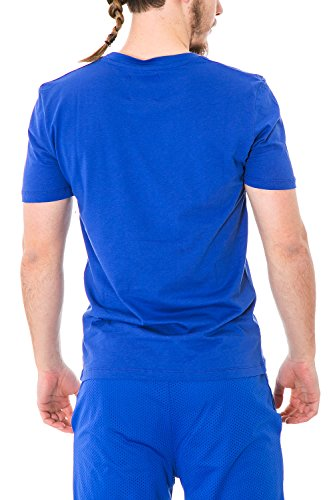 Unisex regular fit herren damen printed t-shirt 28300 M Light Blau