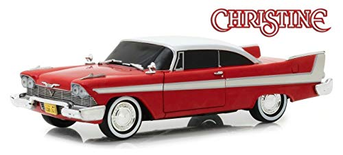 Greenlight 1: 24 Hollywood - Christine - 1958 Plymouth Fury Evil Version (Blacked Out Windows) 84082 Red ()