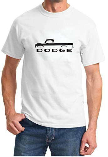 1961-71 Dodge Pickup Truck Classic Outline Design Tshirt XL white