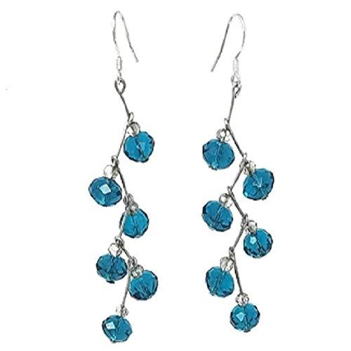 New Collection Zig Zag Blue Tourmaline and Smoky Crystal - Smoky Tourmaline Ring