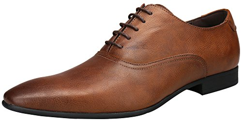 SHENBO Men's Brown Classic Oxford Shoes