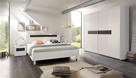 Lc Lc Schlafzimmer Set 4 Tlg Edle Hochglanzfronten Weiss Fsc Zertifiziert Amazon De Kuche Haushalt