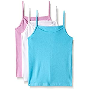 Fruit of the Loom Big Girls' Assorted Cami (Pack of 3), Large