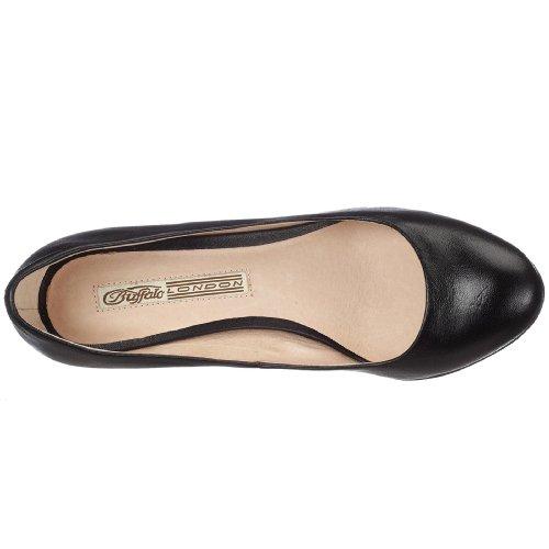 Buffalo London 109-5046 107964 - Zapatos de salón para mujer Negro
