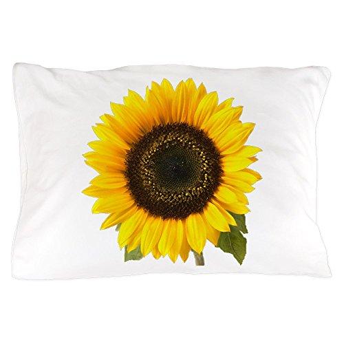 CafePress Sunflower Standard Size Pillow Case, 20