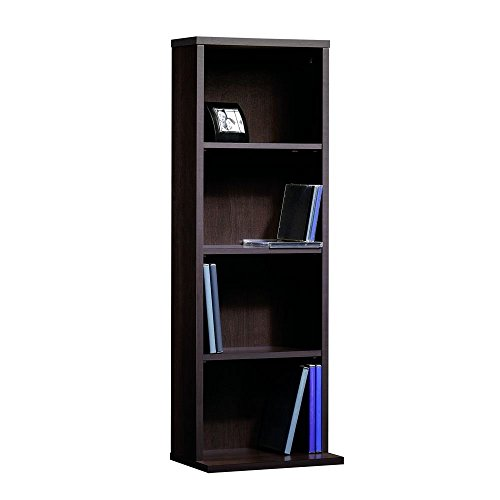 Sauder Beginnings Multimedia Storage Tower, 12-Inch,Cinnamon Cherry Dvd Storage Bookcase