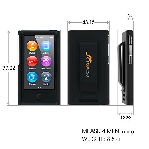iPod Nano 7 Case - roocase Ultra Slim Fit (Black) Shell Case Cover for Apple iPod Nano 7 (7th Generation)