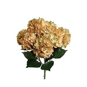 """Larksilk 22"""" Silk Artificial Hydrangea Bush w/ 7 Mop Heads 35"""