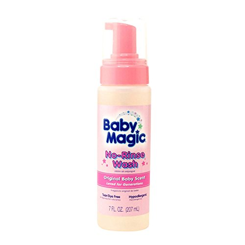 Baby Magic No-Rinse Wash, Original Baby Scent, 7 Ounces -