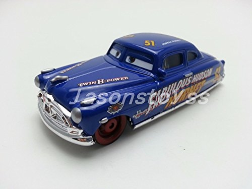Mattel Disney Pixar Cars Fabulous Hudson Hornet Diecast Toy Car 1:55 Loose New (Aliens Action Figure Hudson)