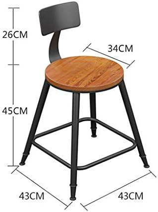 M. Wang WYF Jamie Tabourets de Bar de Style Industriel Simple Tabourets Hauts pour la Maison et la Cuisine Chaise de Petit déjeuner à Effet de Serre avec Coussin