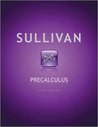 Precalculus 9th edition michael sullivan 9780321716835 amazon precalculus 9th edition 9th edition fandeluxe Choice Image