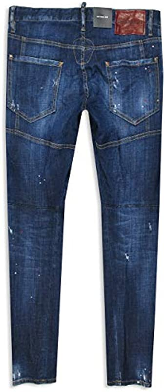 DSQUARED2 Jeans Tidy Biker Jean Size 48 50 52 54 Navy Distressed Dsquared 2: Odzież