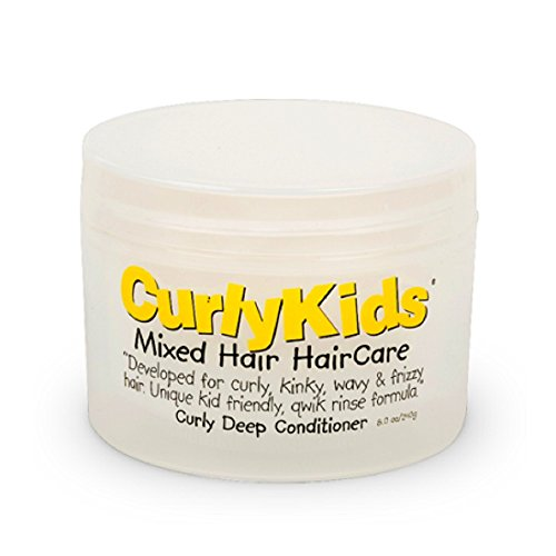 CurlyKids Curly Deep Hair Conditioner, 8 Ounce (Best Hair Products For Mixed Curly Hair)