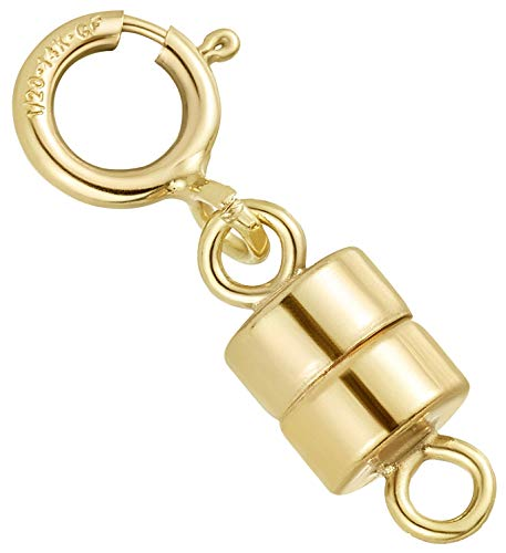 14K Gold Fileld Magnetic Clasp for Jewelry and Necklaces | 4.5 mm | Made in USA [1 Pack] (Bracelets Gold Magnetic)