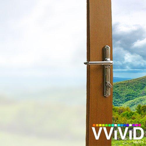 不透明マットホワイトつや消しStatic Clingビニールプライバシーフィルム装飾ウィンドウデカールfor浴室、キッチン、ホーム、オフィス簡単DIY adhesive-free 36
