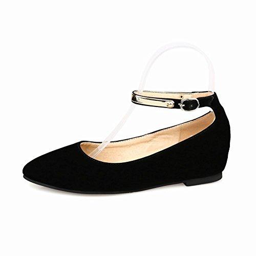 Carolbar Women's Charm Cute Ankle-Strap Hidden Heel Buckle Court Shoes Black 7nagZup