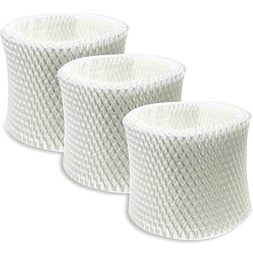 (SKROS Compatible HCM-350,HCM-300T, HCM-600, HCM-710, HCM-315T Humidifier Wicking Filters Replacement for Honeywell HAC-504 and HAC-504AW,Filter A(3 Pack) )