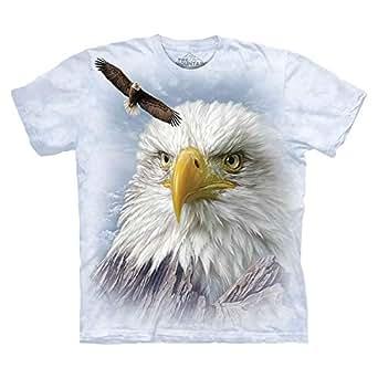 The Mountain White Round Neck T-Shirt For Women